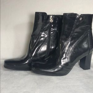 Etienne Aigner  square toe ankle boot